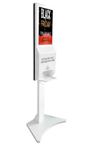 "Kiosko Digital de 21.5 ""con Dispensador Automático de Desinfectante para Manos"