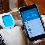 Termometro infrarrojo bluetooth uso medico sin contacto3
